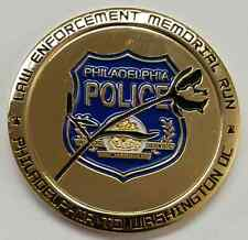 """PHILA PD 20 Year Law Enforcement Memorial Run Phila to Wash 1997 to 2016 2"""" Coin"""