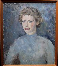 PAULINE GLASS 1908-1992 BRITISH OIL PAINTING ART EXHIBITED WOMAN  C 1950