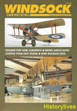 Windsock International V.12 N.3 Albatros Pup Greek Airco DH95 Curtiss Russian