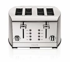 KRUPS KH734D50 Breakfast Set 4-Slice Toaster with Brushed and Chrome Stainless S