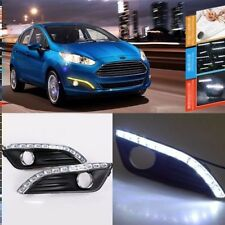 For Ford Fiesta 13 Brand Auto LED Daytime Running Lights DRL+Yellow Trun Singnal