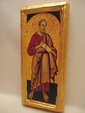 Saint John The Evangelist Christian Roman Catholic Icon Gold Art on Pine Wood
