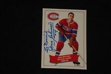HOF JEAN BELIVEAU 1994 PARKHURST MISSING LINK SIGNED AUTOGRAPHED CARD #172