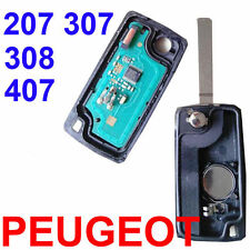 2 Buttons Remote Alarm Flip Key Fob 433MHz ID46 Chip Peugeot 207 307 308 407