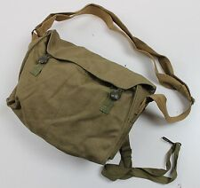 VINTAGE 1970's DATED CZECH ARMY CANVAS GAS MASK BAG / SHOULDER BAG