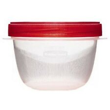Rubbermaid TakeAlongs Twist and Seal Food Storage Containers, Clear, 2-Cup