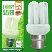 4x 9W =40W Daylight Quick Start Low Energy CFL SAD 5600K White Light Bulb BC B22
