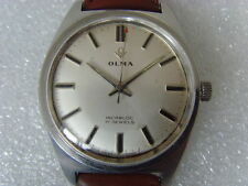 Vintage Swiss Olma 17J Mechanical Manual Watch