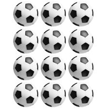 12 Table Soccer  Foosball Black / White Foos Ball engraved parts dozen.