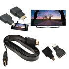 1080P HDMI Cable & HDMI to Mini & Micro Adaptor Kit Set for Android Tablet PC TV