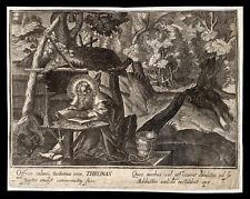 santino incisione 1600 S.TEONA V. DI ALESSANDRIA. le clerc