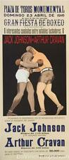 Jack Johnson vs Arthur Cravan Boxing Poster Fine Art Lithograph Hand Pulled S2