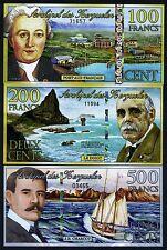 SET Kerguelen Island, 100;200;500 2011-2012, POLYMER UNC  Cats