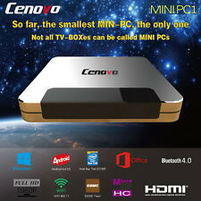 Cenovo mini PC-tv box, Windows 10+, Android QUAD CORE, alu, 32gb, TV rusa sin abo