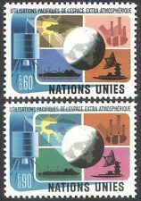 UN (G) 1975 Space/Communications/Satellite/Ship/Weather/Meteorology 2v (n41723a)