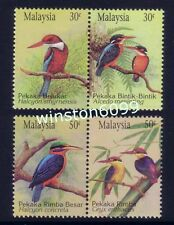 1993 Malaysia Birds --- Kingfishers 4v Stamps (Standard Se-Tenant Pairs) Mint NH