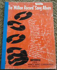 "Vintage The ""Million Record"" Song Album, Words and Music, Doris Day, Bing Crosby"