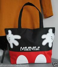 Women Canvas Mickey Mouse Tote Bag Shoulder Bag Handbag Shopping Bag School bag