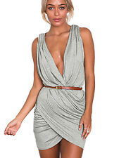 Boldgal Western Cocktail Short Plunge Party Wear Evening Wrap Club Dress