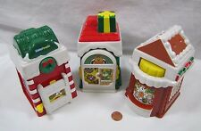 New Fisher Price Little People CHRISTMAS HOLIDAY VILLAGE MAIN STREET Set of 3