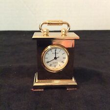 "Vintage Bulova Miniature Clock B0503 Solid Brass ""Musette Carriage Clock"""
