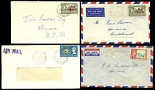 BRITISH SOLOMON Is.1963-67 AUKI GIZO YANDINA 4 COVERS AIRMAILS 3d + 2d + 3c