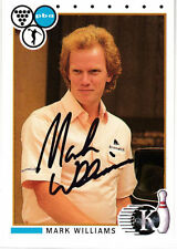 BOWLING Mark Williams Hall of Fame HOF 1991 Kingpins SIGNED CARD AUTOGRAPHED