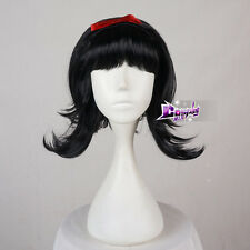 Princess Snow White Ladies Flick Wig Black Beehive Bob Fancy Dress Party Wig