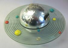 Vintage Astro Berzac Mini Solar System Spinaround Mechanical Coin Bank
