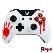 Blood Hand Front Housing Shell Faceplate Case Cover Part for Xbox One Controller