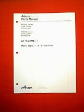 "ARIENS 835000 SERIES TRACTOR MODEL 835002 42"" SNOW PLOW  ATTACHMENT PARTS MANUAL"