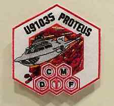 """Fantastic Voyage Movie Proteus CMDF Logo Embroidered 3.5""""  Patch (FVPA-01)"""
