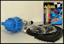 AMC JEEP 290 304 360 401 V-8 HEI DISTRIBUT & ACCEL WIRES 6512-BLUE+5040-K-KIT