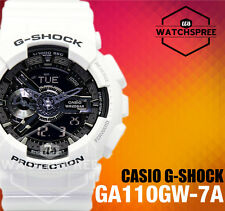 Casio G-Shock Garish Color Series Bold and Popular White Watch GA110GW-7A
