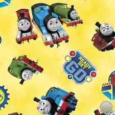 140138860 - Thomas the Tank Engine 24355-S Steam Team Yellow Train Quilt Fabric