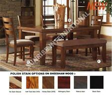 Modern Wooden Dining table with  4 chair, 1 Bench set !
