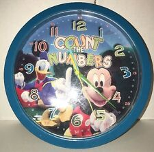 Disney Count The Numbers Wall Clock Mickey Mouse Donald Duck Blue