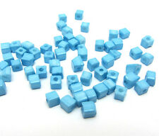 New  Loose Charm 3-4MM 180pcsGlass Square spacer Beads Sky Blue Crafts