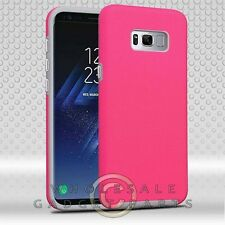 Samsung GS8 Advanced Armor Textured Case - Hot Pink Dots/Iron Gray Cover Guard