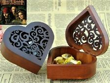 Heart Wood Gold Wind Up Music Box : Pirates of the Caribbean Davy Jones