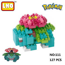 LNO Anime Pokemon Venusaur Nano Block Diamond Mini Building Toys Pocket Monster