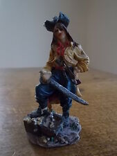 "Pirates of the Caribbean CAPTAIN JACK SPARROW Pirate Resin Figure 3.25"" high vgc"