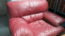 Harvey Norman Leather Lounge Arm Chair Burgundy colour + Matching Free One