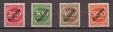 1923 Deutsches Reich Dienst Mi. 78-81 ** schöner Teilsatz postfrisch