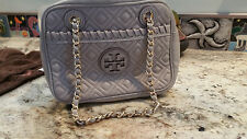 Tory Burch 'Marion' Quilted Leather Chain Crossbody Bag MERCURY GRAY $450