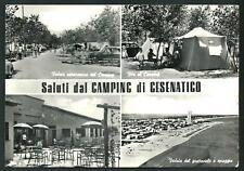 Cesenatico ( Forlì ) : Camping Rose - cartolina viaggiata anni'60 per la Francia