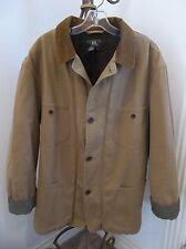 RALPH LAUREN DOUBLE RL RRL MENS TAN CANVAS WOOL LINED FIELD RANCH JACKET COAT L