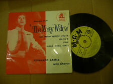 "FERNANDO LAMAS""THE MERRY WIDOW-disco 45 giri EP(4 brani)MGM Uk 1961"""