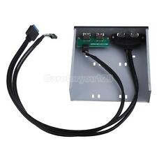 2 Port USB 3.0 + 2 Port USB 2.0 5.25 inch Floppy Bay Front Panel Bracket #Cu3