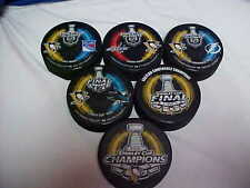 2016 NHL Stanley Cup Playoffs Pittsburgh Penguins Hockey Six Puck Souvenir Pack